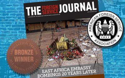 Driven By Design Client, the Foreign Service Journal, Wins for Publishing Excellence